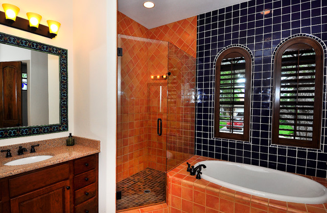 Beach Park Sandpiper Custom Home mediterranean-bathroom