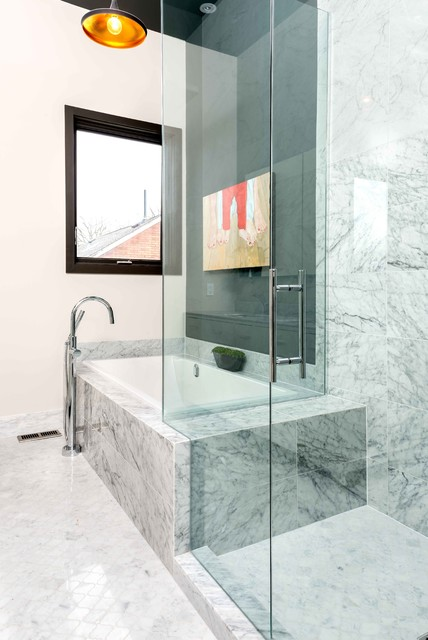 Beaches Rebuild Contemporary Bathroom Toronto By Nikki