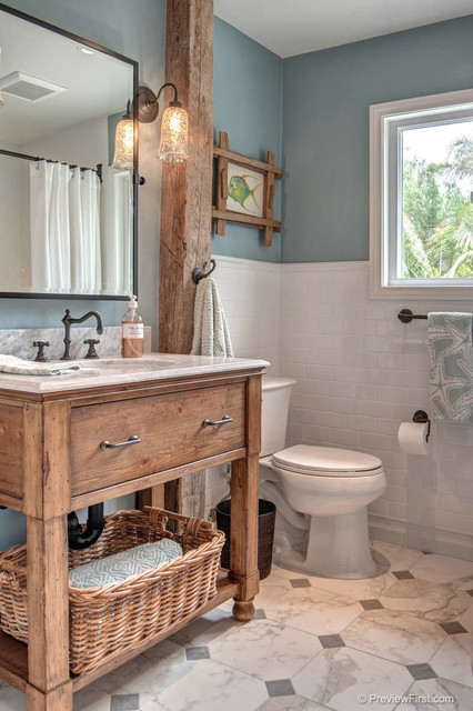 Ordinaire Beachy Casual Bathroom Beach Style Bathroom