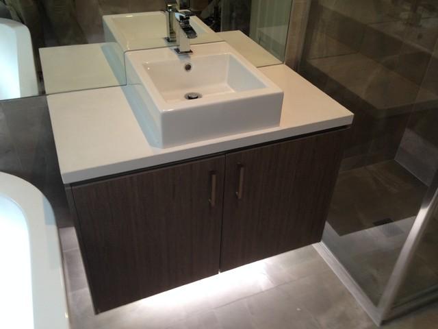 Lights Under Bathroom Vanity : Beaconsfield - Vanity with under-mounted lighting