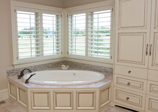 beaded inset cabinetry - traditional - bathroom - kansas city -