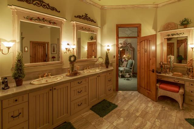 Bear Hills Home Draper rustic-bathroom