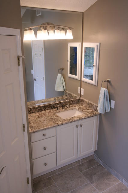 Beauclerc master bath transitional bathroom for Bathroom cabinets jacksonville