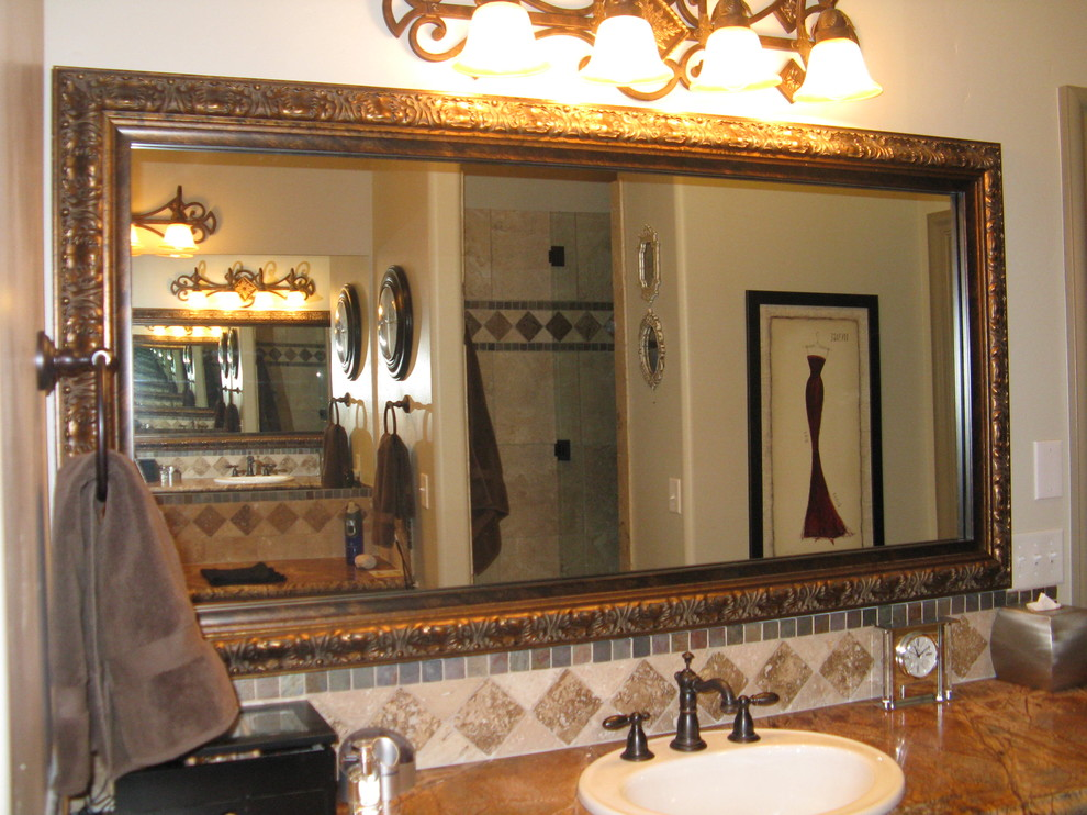 Beautiful And Elegant Mirror Frame Kits Traditional Bathroom Salt Lake City By Reflected Design Frames For Existing Mirrors Houzz