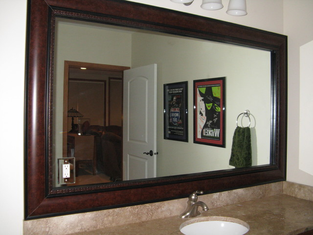 Charming Beautiful And Elegant Mirror Frame Kits Traditional Bathroom