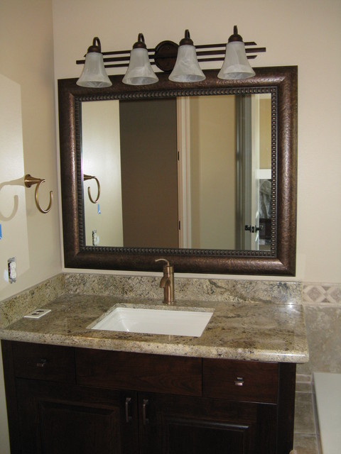 Framed Bathroom Mirror Pictures beautiful and elegant mirror frame kits - traditional - bathroom