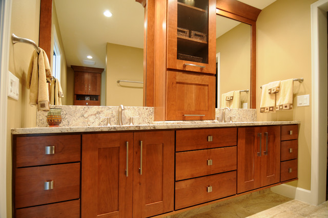 beautiful and energy saving renovation transitional-bathroom