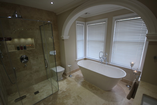 Beautiful timeless master en suite tiled in our premium for Beautiful en suite bathrooms