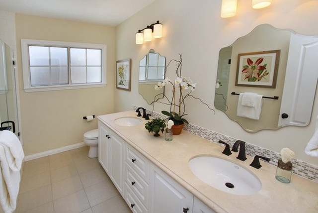 Beautiful Bathroom Installation  Feature Linen Look Floor tile and  Shell Stone a traditional. Beautiful Bathroom Installation  Feature Linen Look Floor tile and