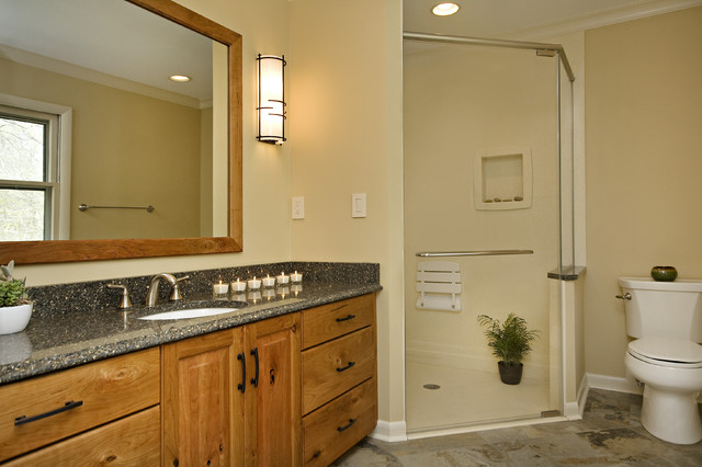 Craftsman Style Master Bathroom : Beautiful craftsman style master bathroom traditional