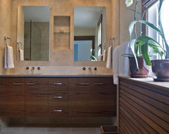 Beautiful renovation in historic Mt. Pleasant contemporary bathroom