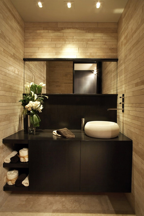 modern bathroom Pretty Powder Rooms