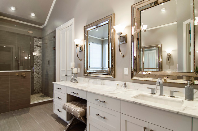 beckington master bathroom transitional bathroom - Transitional Bathroom Ideas