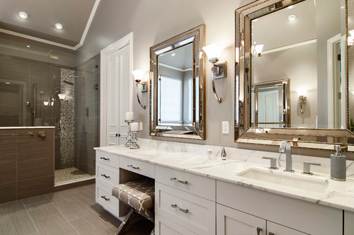 Double Mirrors You Dont Need To Install Two Sinks Be Able Use In The Bathroom Design Above A Couple Of Are Placed