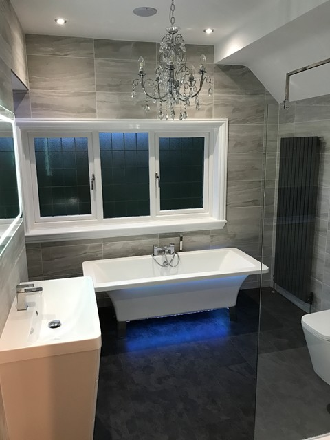 Bedroom Bathroom Double Conversion Contemporary Bathroom West Midlands By Flush Fitting