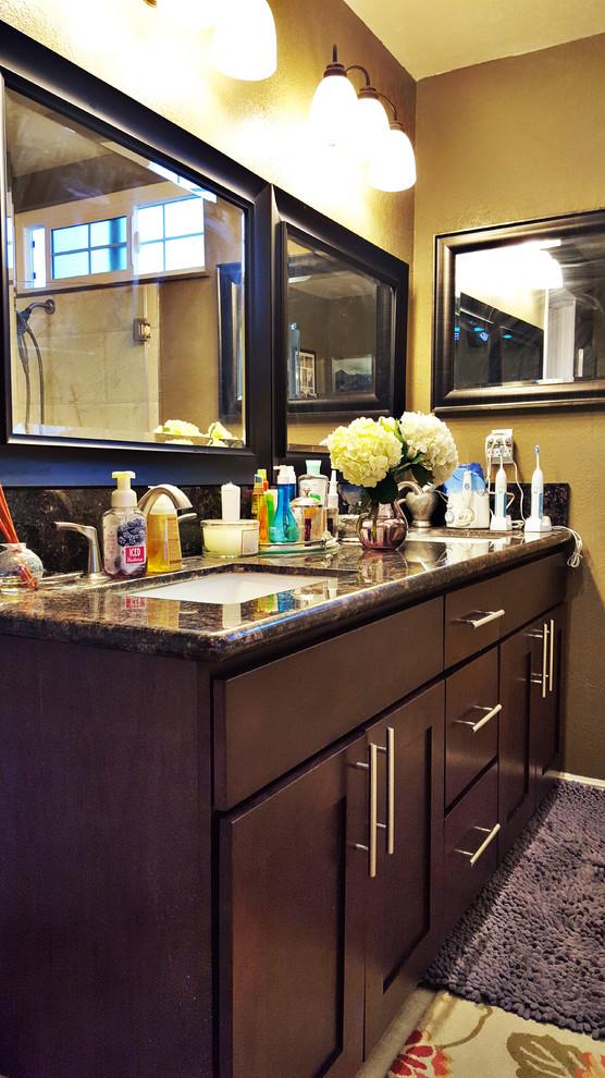 Beech Espresso Kitchen Cabinet - Traditional - Bathroom ...