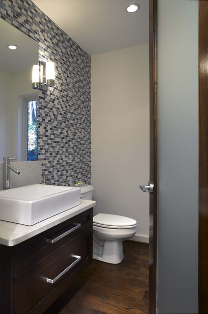 Beechwood half bath modern bathroom atlanta by for Small half bathroom designs