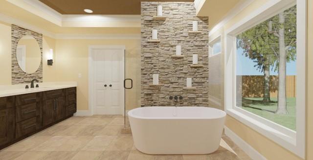 Before 3d rendering of briarpark master bath remodel for Bathroom renovations 3d