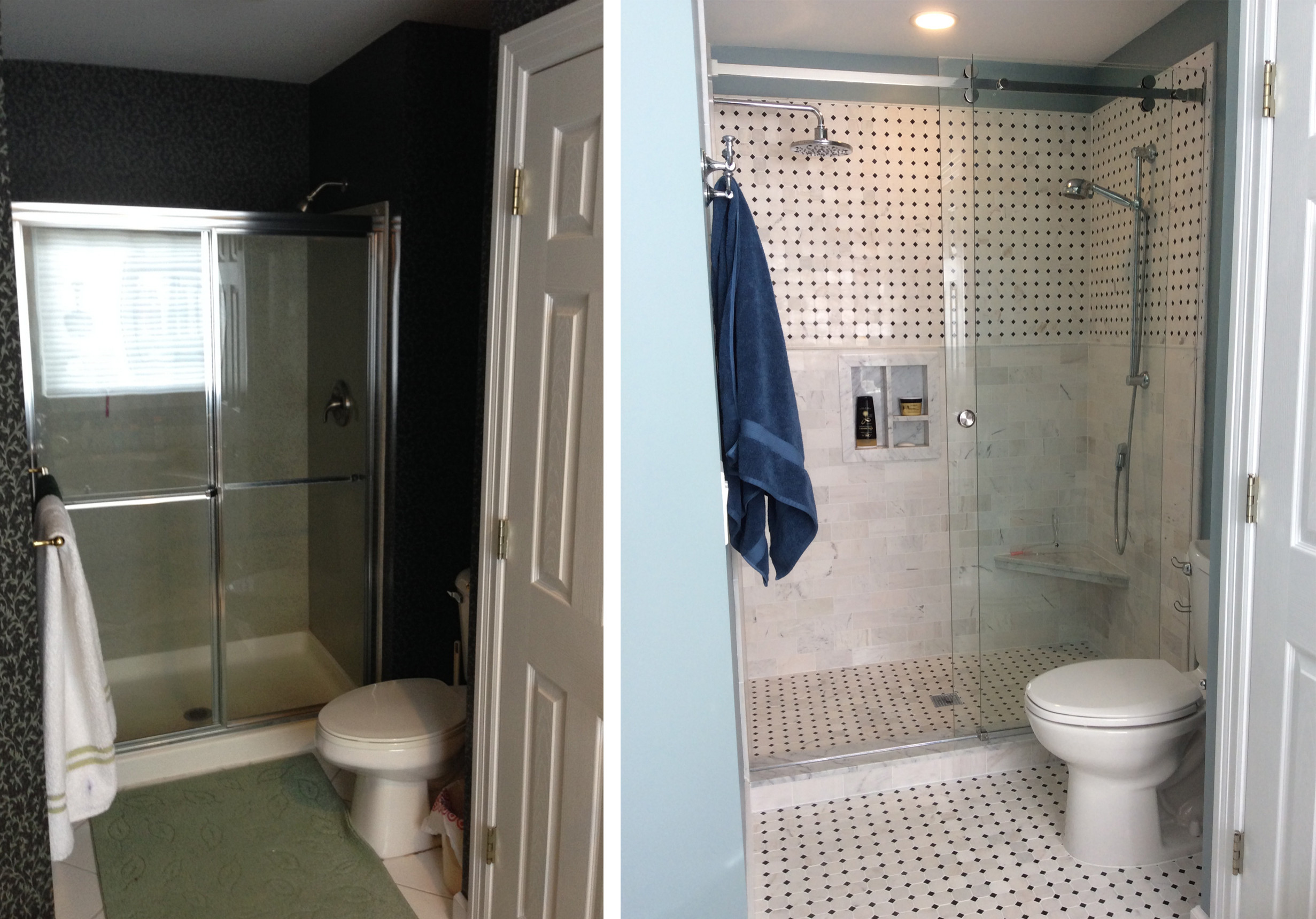 before and after bath room