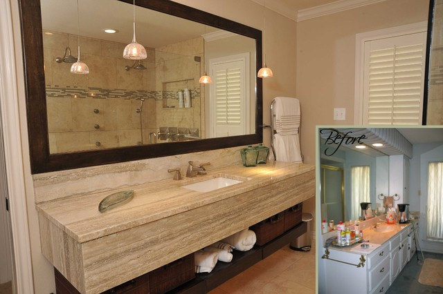 before and after bathroom remodels traditional bathroom - Bathroom Remodel Dallas