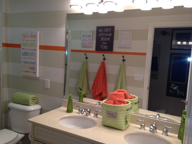 Before and After Bathroom traditional-bathroom