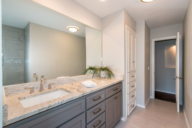 Before & After Transitional Bathroom oklahoma city