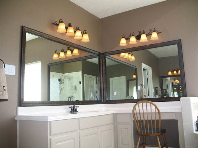 before and after photos contemporary bathroom - Mirrorcle Frames