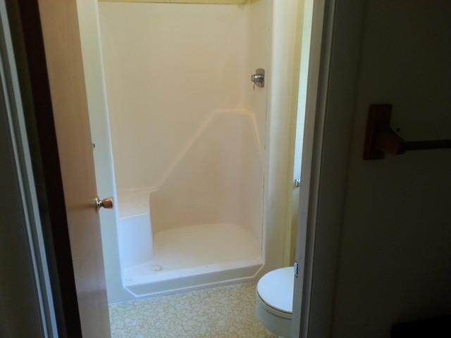before moen iodigital shower and bathroom remodel in