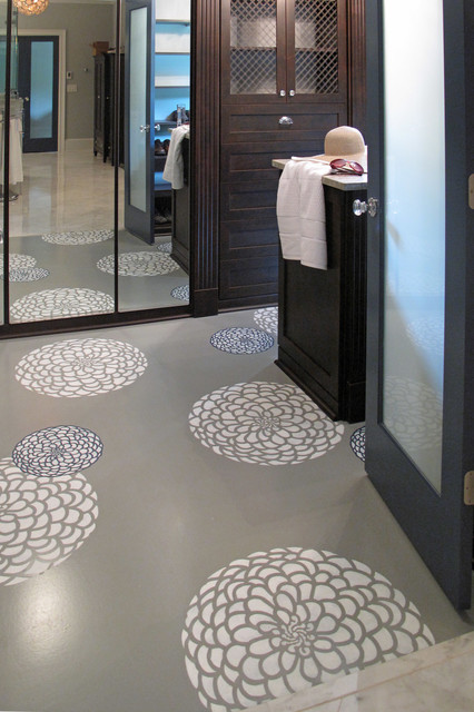 Behind Closed Doors Painted Floors Stencil Design