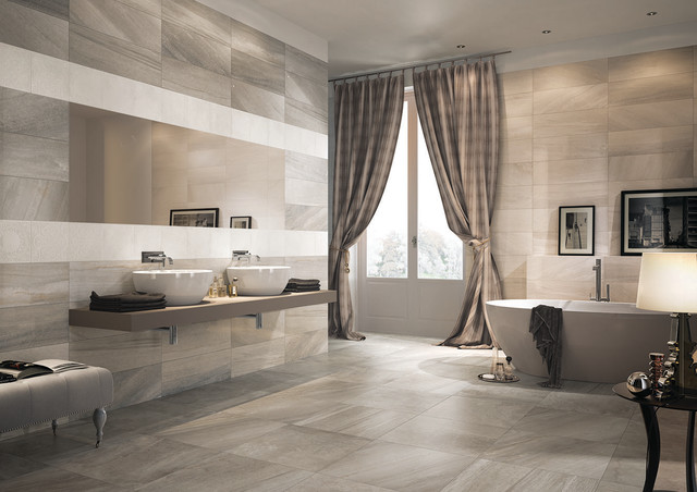 Beige ivory dora deco grey greige - Modifier salle de bain ...