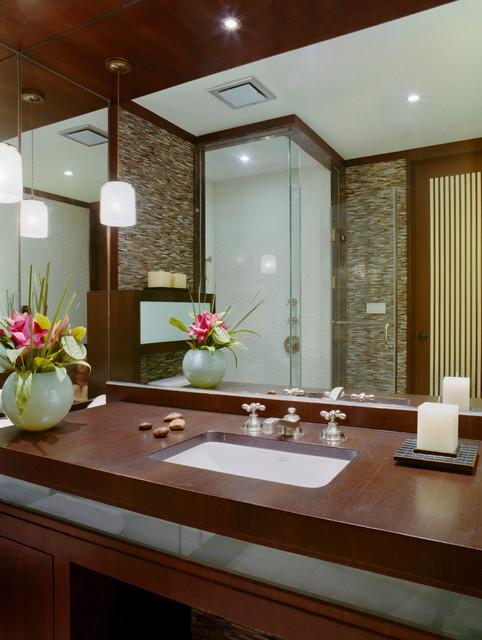 Beijing Penthouse contemporary-bathroom