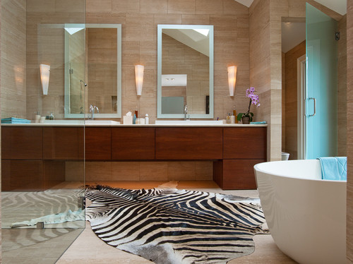 Contemporary bathroom with rustic african influence - Contemporary modern bathroom accessories ...