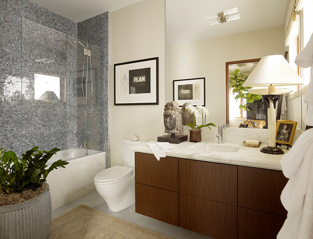 Bella vista guest room modern bathroom san francisco for Modern guest bathroom designs