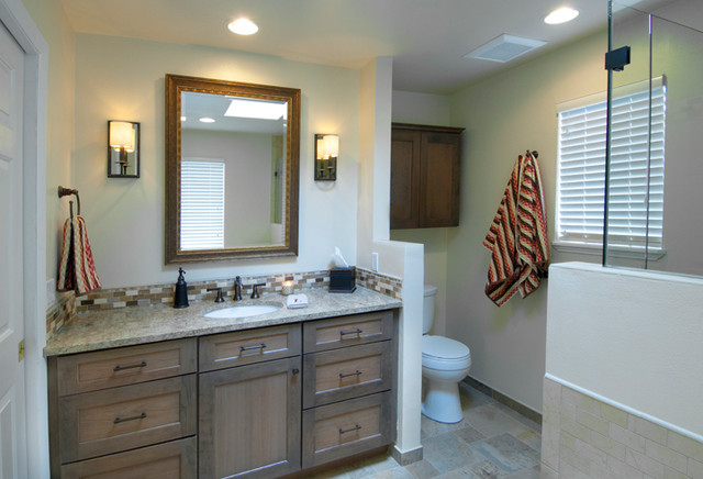 Bellevue condo bathroom remodel traditional bathroom for Condo bathroom remodel ideas