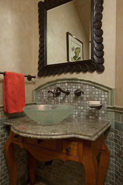 Bellevue Powder Room Eclectic Bathroom Seattle By Provanti Designs Inc