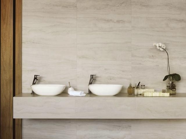 Bello travertino navona bianco porcelain tilee piastrelle bagno