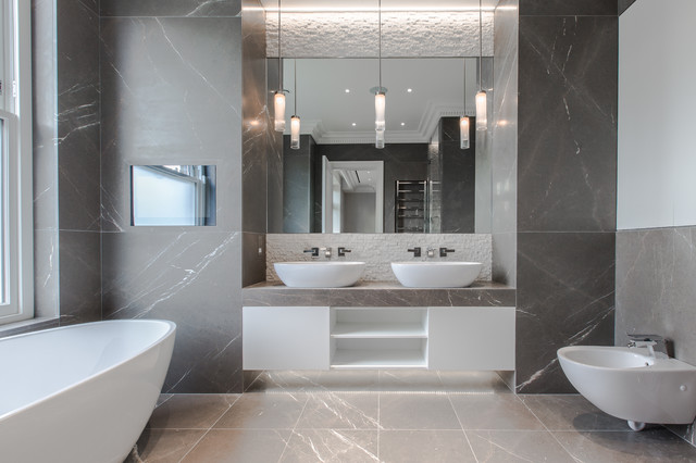 North London Townhouse Contemporary Bathroom London