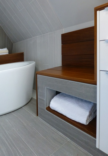 Bench Detail Point Gray Vancouver Bc Contemporary Bathroom Vancouver By Design Ark Inc
