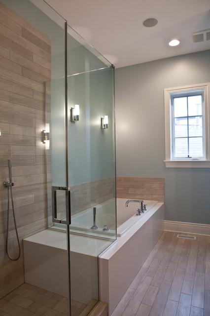 Benson Residence transitional-bathroom