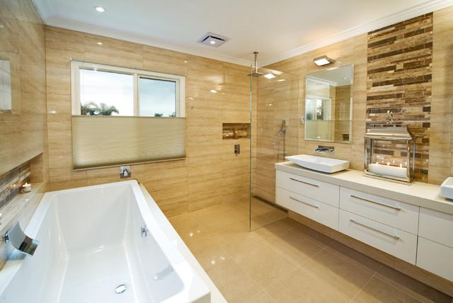 Bent pde black rock modern bathroom melbourne by for Bathroom design melbourne