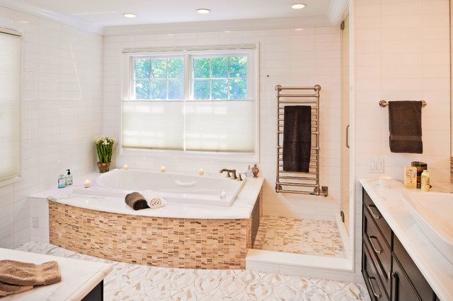 recessed cabinet blissful master bath traditional bathroom new york 25118
