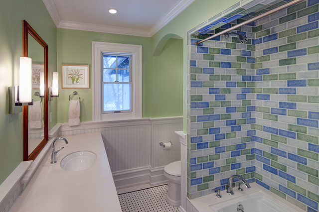 Berkshire Residence - Children's Bathroom traditional-bathroom