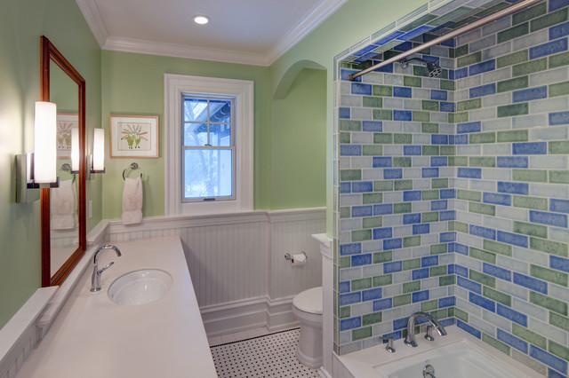 Berkshire Residence Children 39 S Bathroom Traditional Bathroom Cleveland By Harmoni