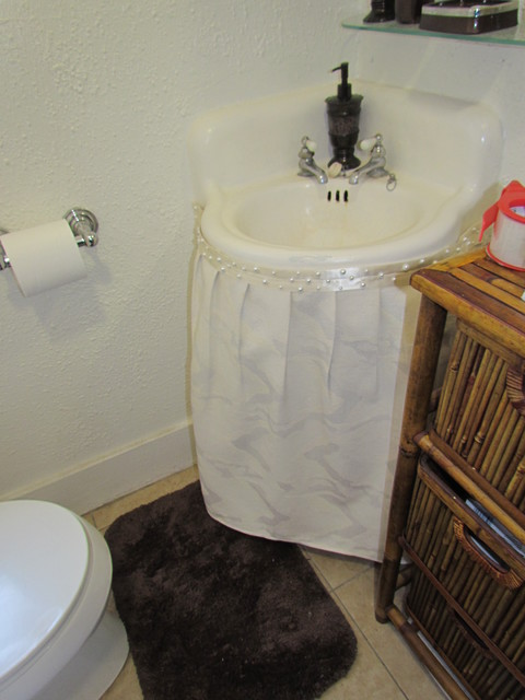 Bethroom Sink Skirt After Traditional Bathroom Los