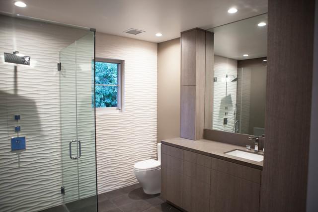 Beverly Hills Residential Bathroom Remodel Wavy Tile