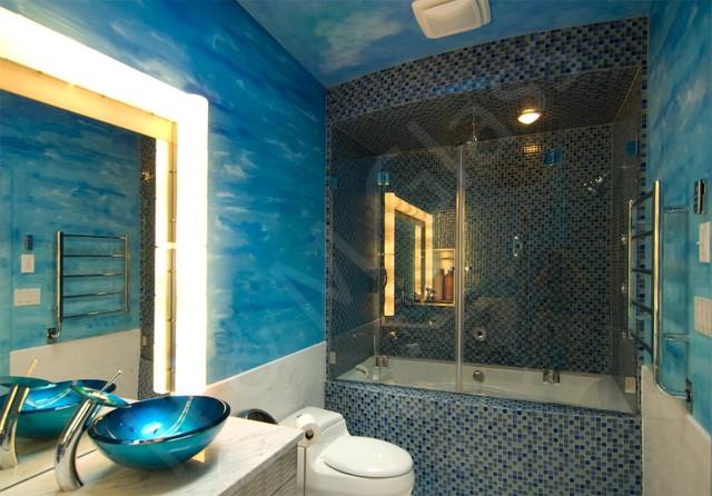 Bi-Fold Closed eclectic-bathroom