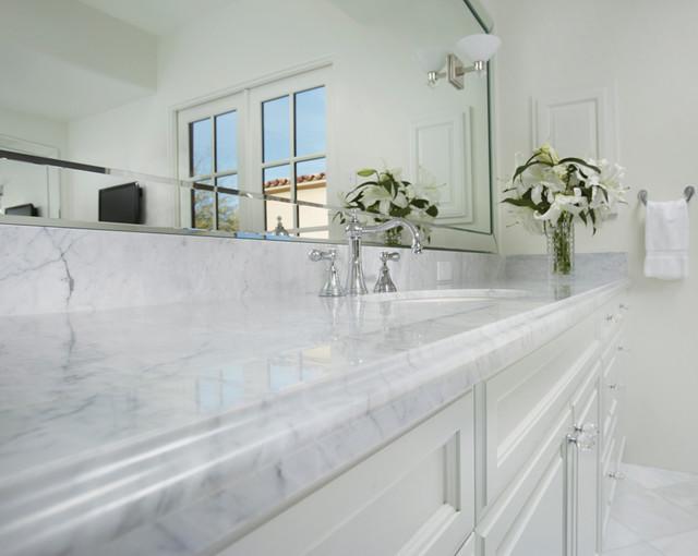 Bianco Carrara Italian Marble Modern Bathroom Other Metro By Arizona Tile