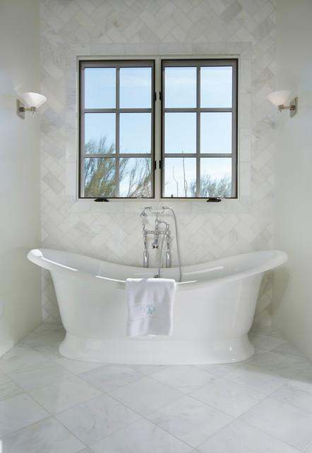 Bianco Carrara Marble Traditional Bathroom Other Metro By Arizona Tile