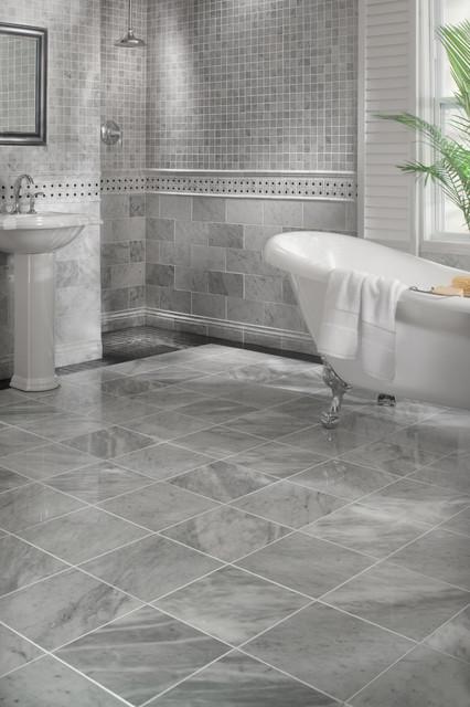 Bianco Carrara Marble Bathroom Traditional Bathroom By Floor Decor