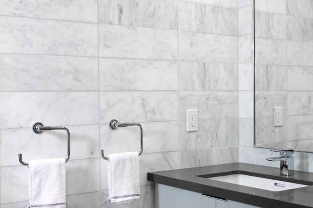 Well-known Bianco Venatino Marble Tile - Modern - Bathroom - Toronto - by  YZ19
